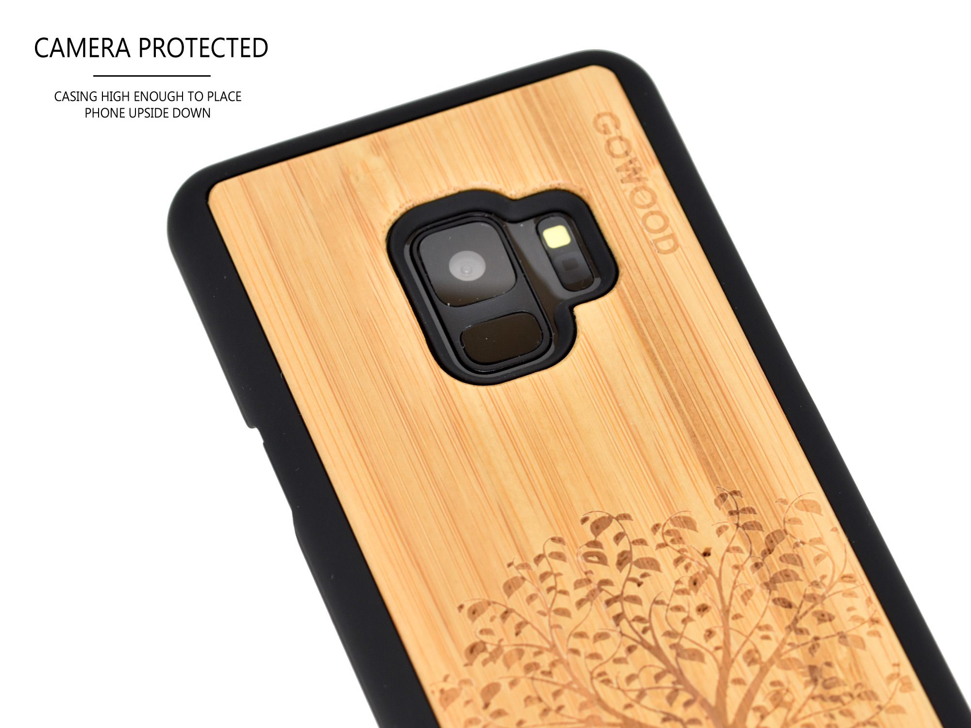 Samsung Galaxy S9 wood case bamboo tree