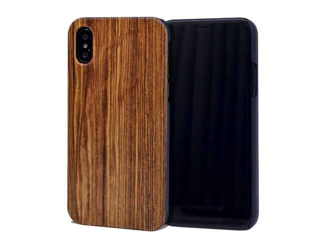 iPhone X and XS wood case