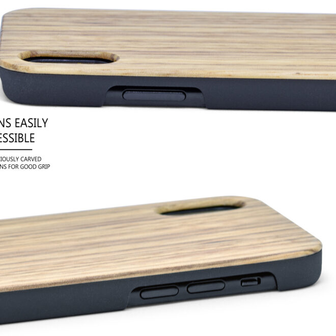 iPhone X/XS zebra wood case