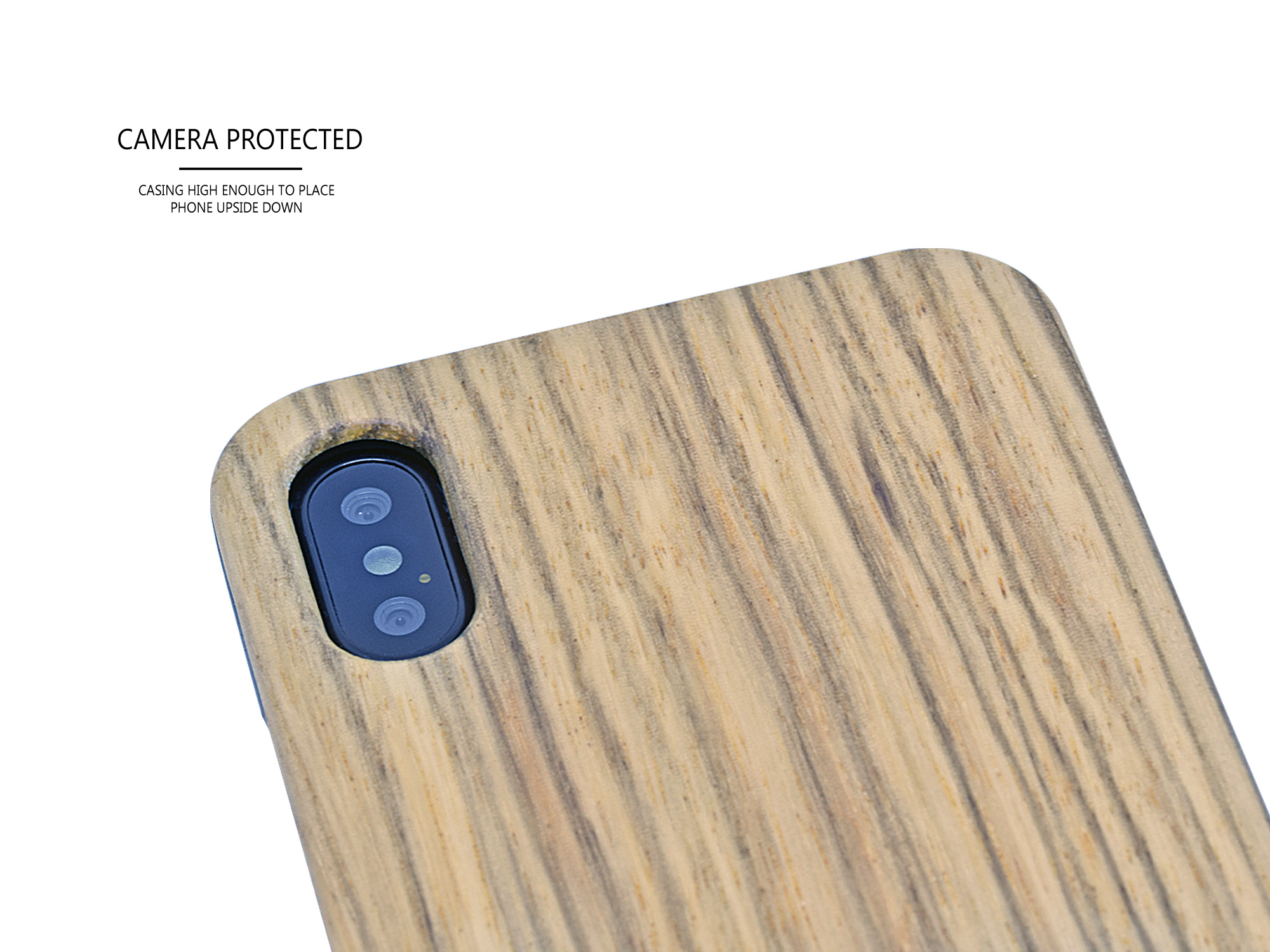 iPhone X/XS zebra wood case