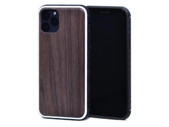 iPhone 11 Pro wood case walnut front