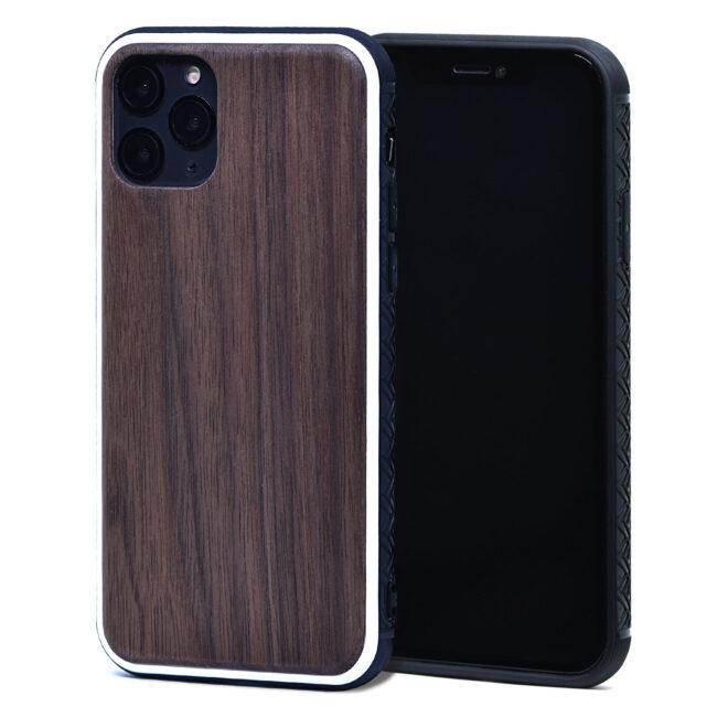 iPhone 11 Pro wood case walnut front