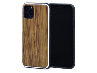 iPhone 11 Pro wood case zebra front