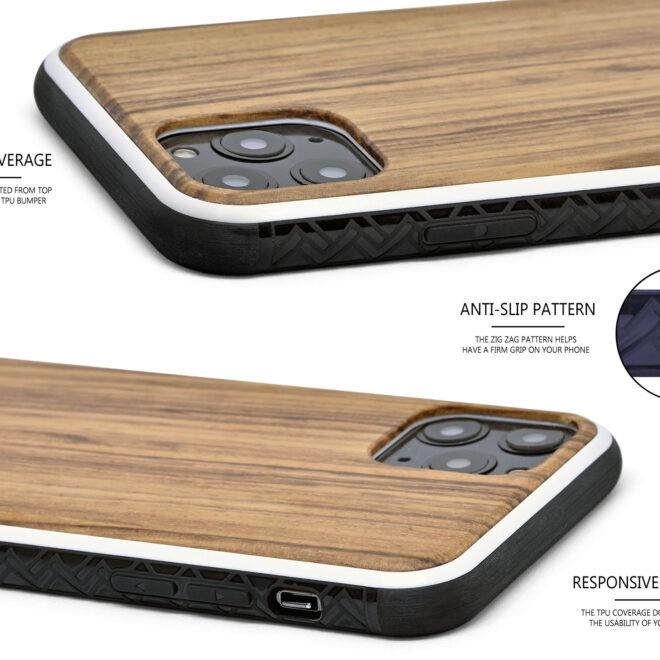 iPhone 11 Pro wood case zebra
