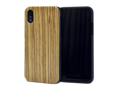 iPhone X and XS wood case zebra