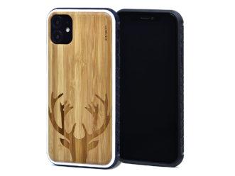 Étui iPhone 11 en bambou chevreuil