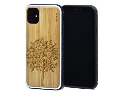 Étui iPhone 11 en bambou arbre