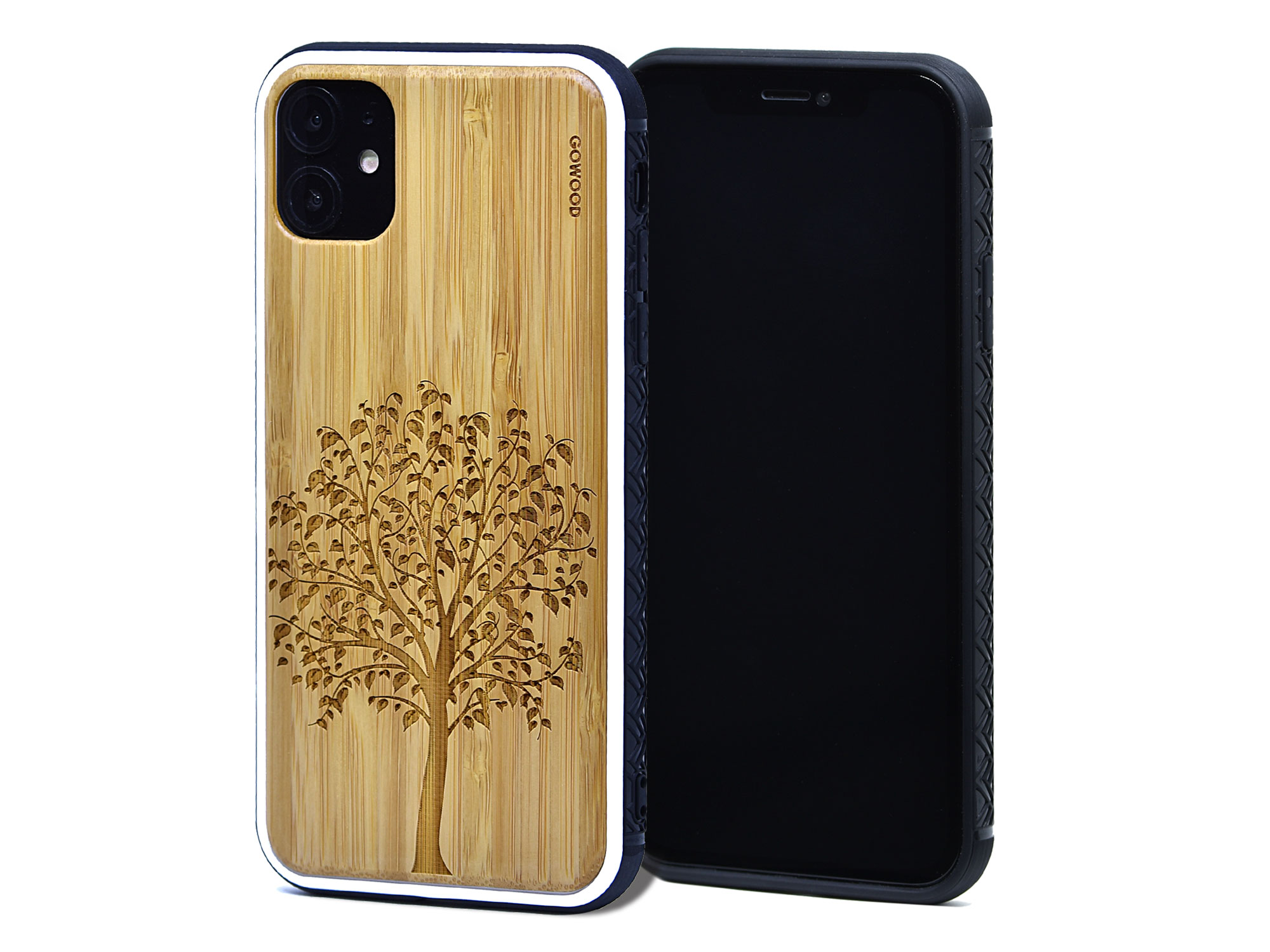 iPhone 11 wood cases bamboo tree front