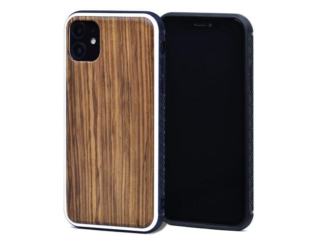 Étui iPhone 11 en bois zébré