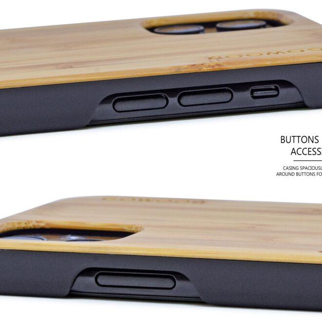 iPhone 11 wood case bamboo deer
