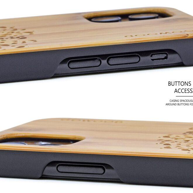 iPhone 11 wood case bamboo tree