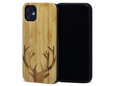 Étui iPhone 11 en bois de bambou