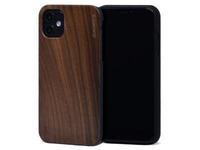 iPhone 11 wood case walnut