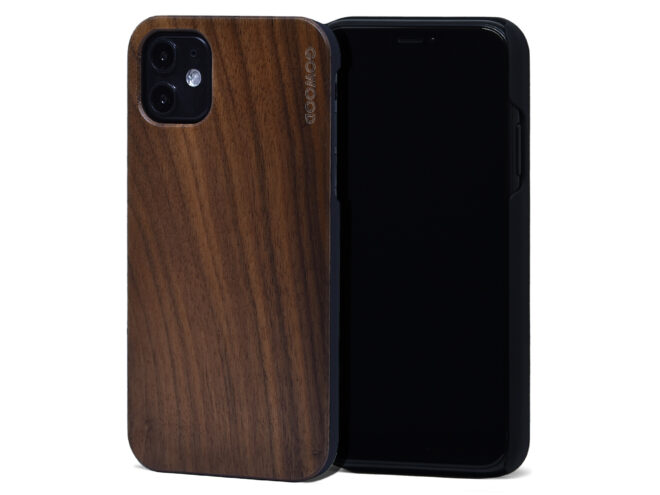 iPhone 11 wood case walnut
