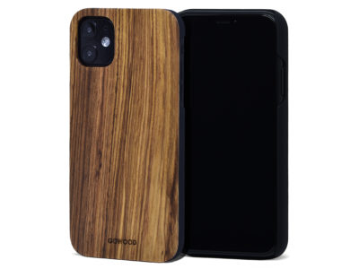 iPhone 11 wood case zebra
