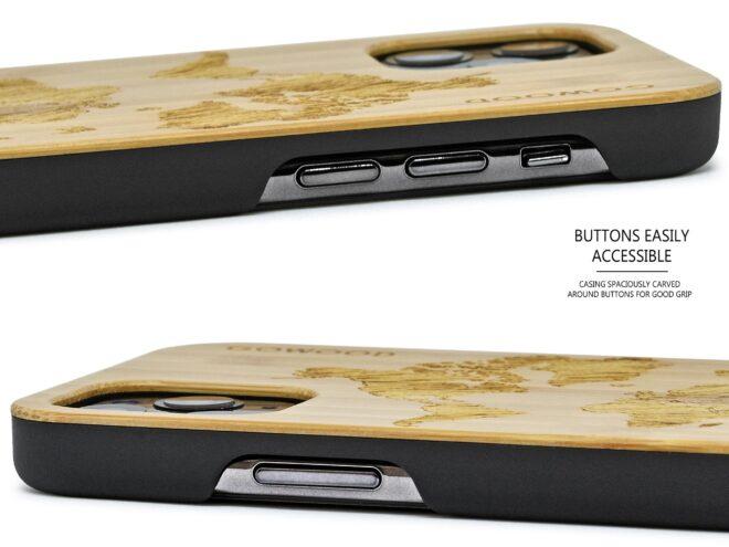iPhone 11 Pro wood case bamboo worldmap