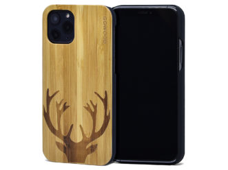 iPhone 11 Pro wood case bamboo deer