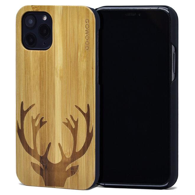 iPhone 11 Pro wood case bamboo deer