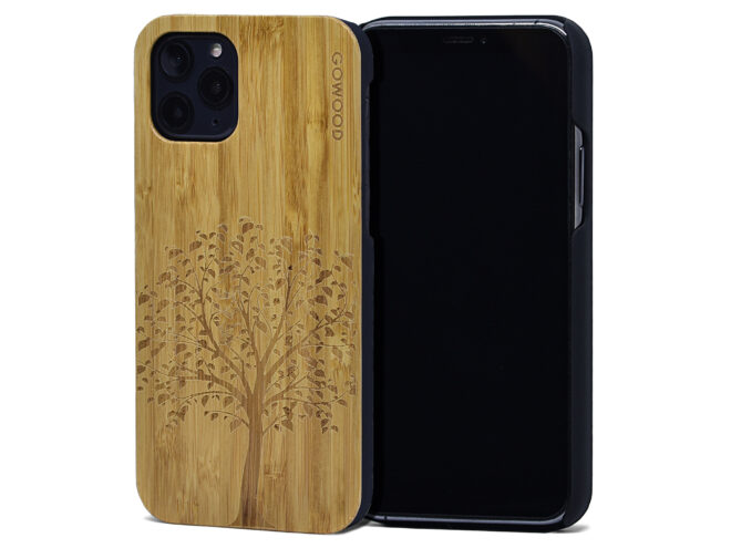 iPhone 11 Pro wood case bamboo tree