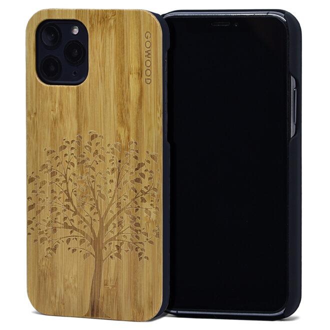 iPhone 11 Pro wood case bamboo tree