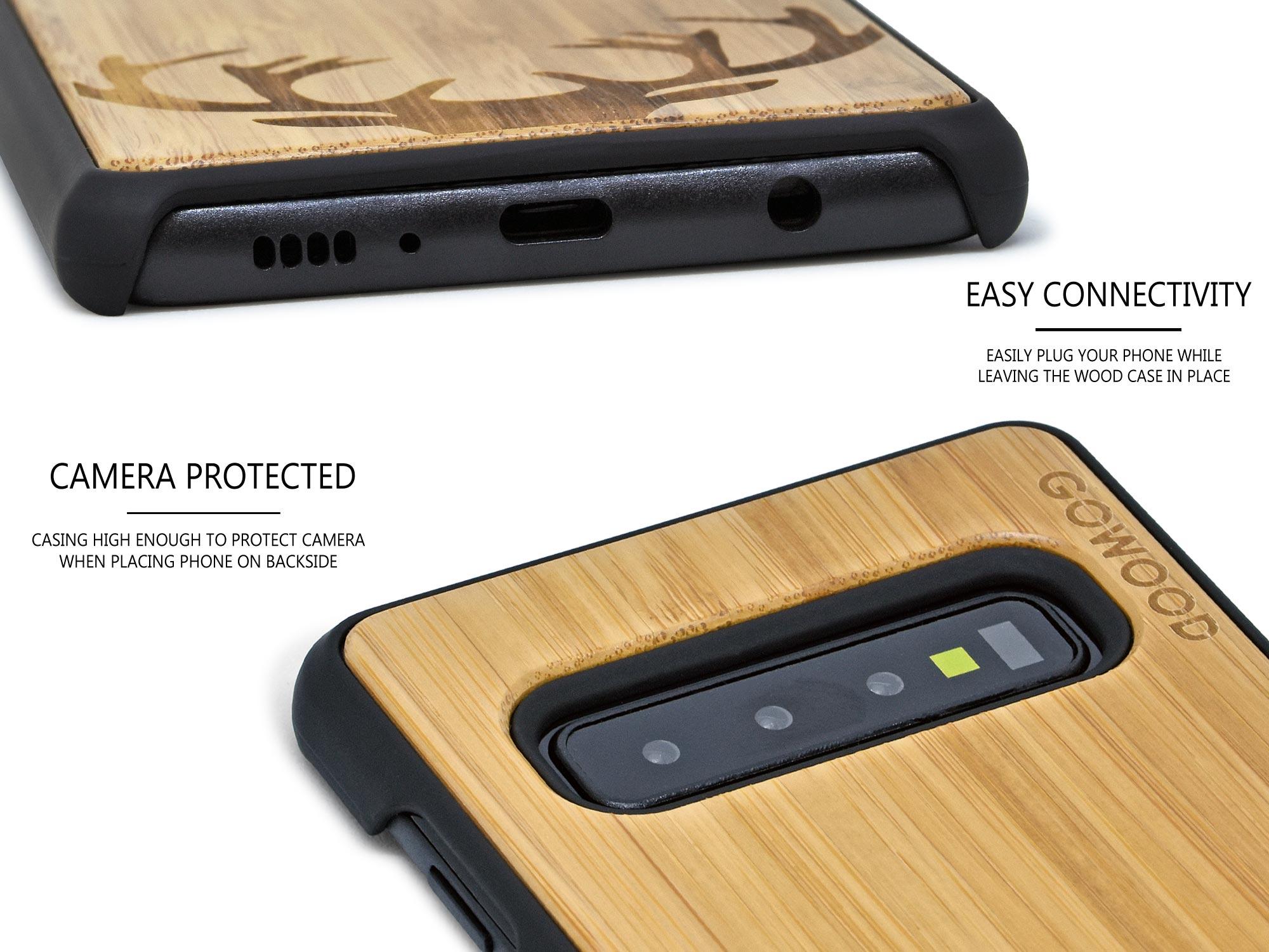 Samsung Galaxy S10 wood case deer
