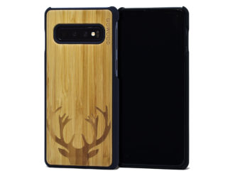 Samsung Galaxy S10 wood case bamboo deer