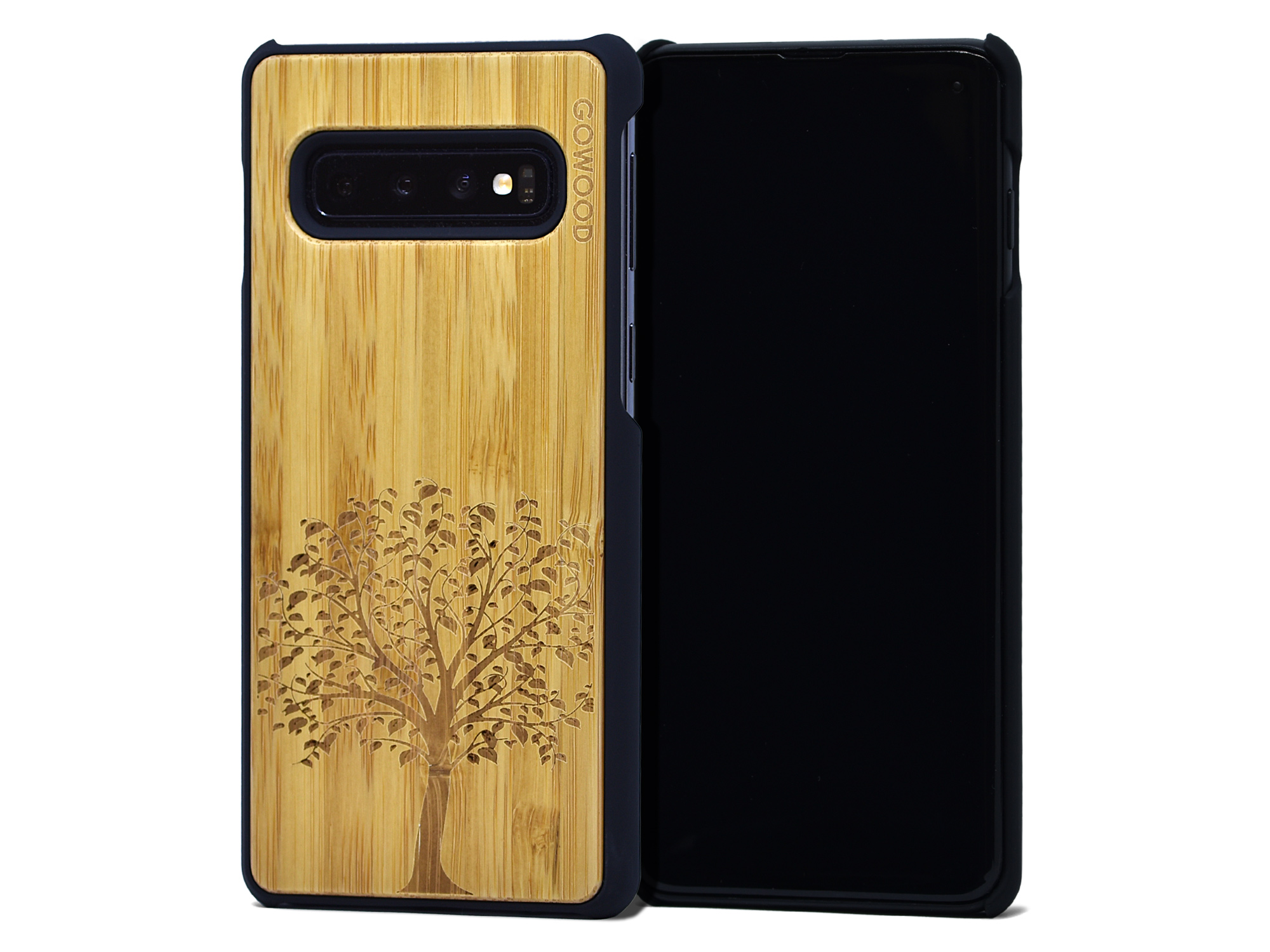 Samsung Galaxy S10 wood case bamboo tree