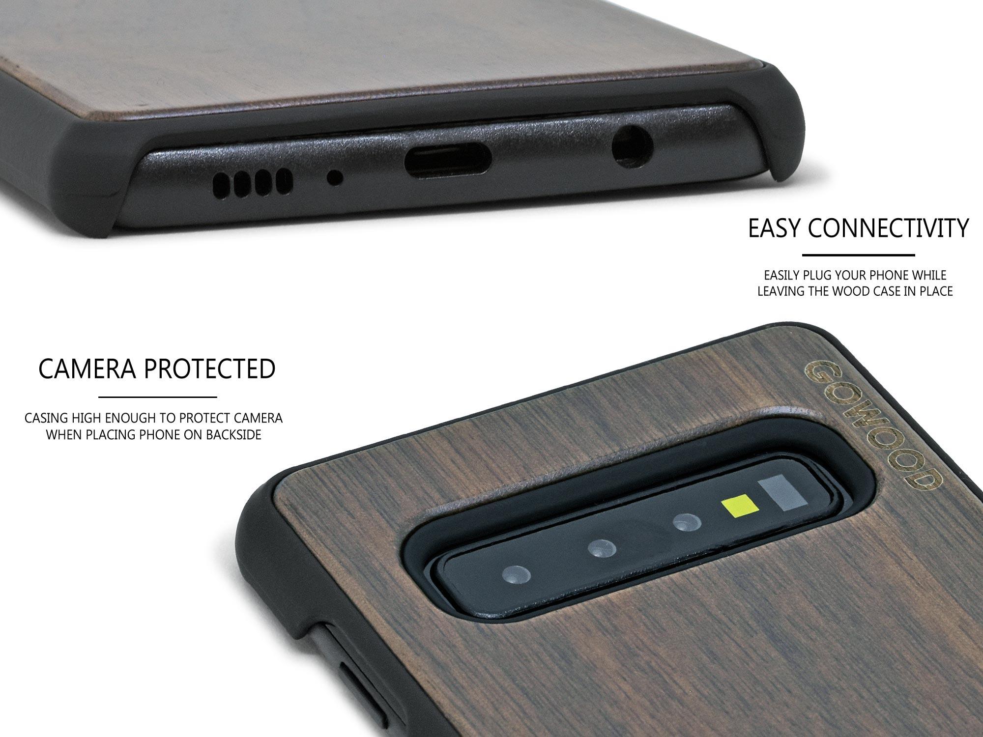 Samsung Galaxy S10 wood case walnut
