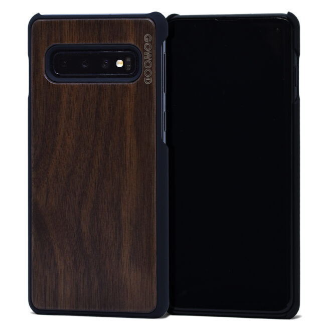 Étui Samsung Galaxy S10 en bois de noyer