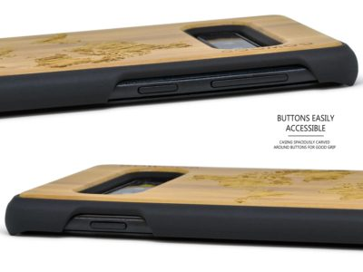 Samsung Galaxy S10 wood case worldmap