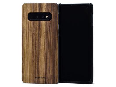 Étui Samsung Galaxy S10 en bois zébré