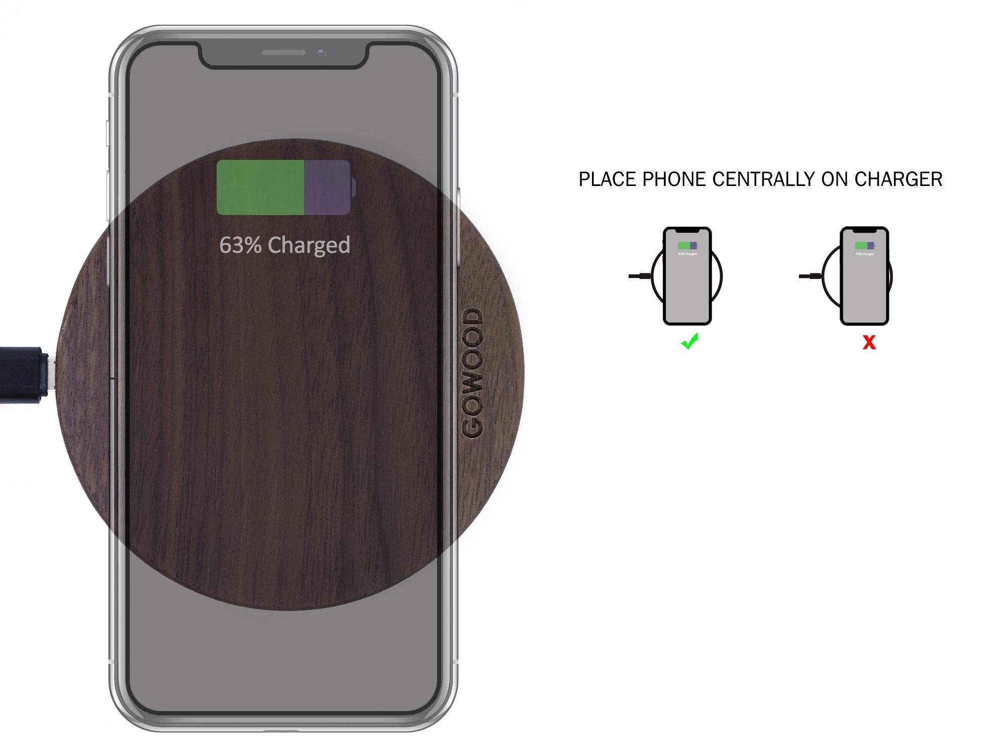 Walnut Wood Wireless Charger