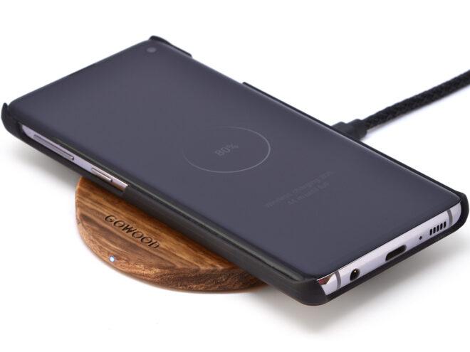 Zebra Wood Wireless Charger
