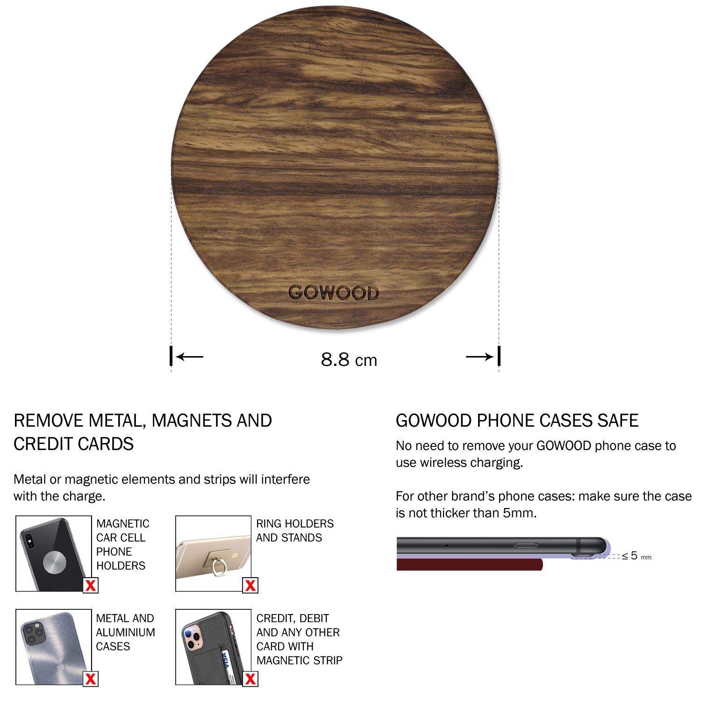 Zebra wood fast wireless charger