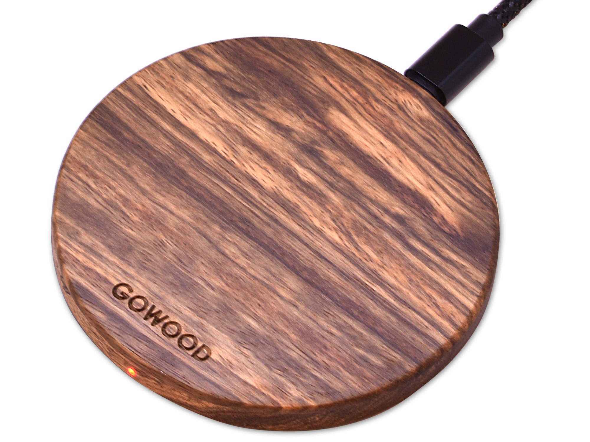 Zebra Wood Wireless Charger
