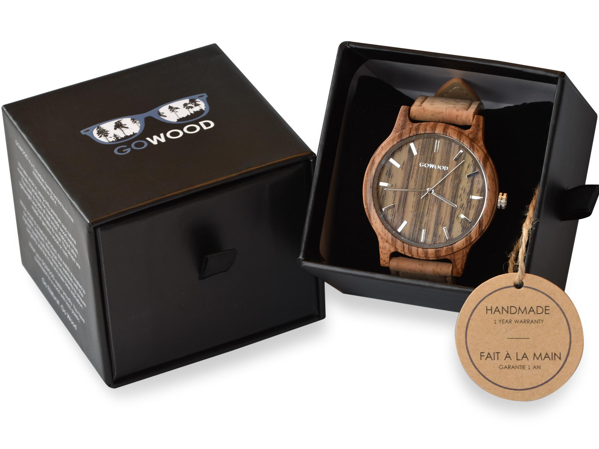 Zebra Wood Watch
