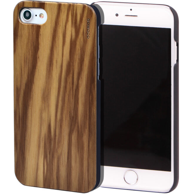 iPhone 7 8 and SE zebra wood case