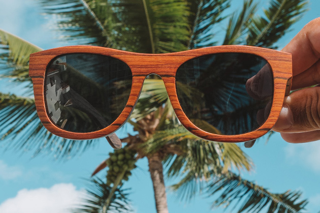 Walnut rosewood sunglasses