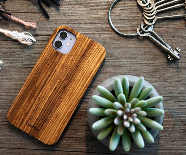 iPhone 11 zebra wood case
