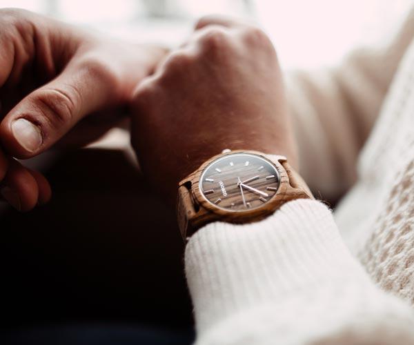 Zebra Wooden Watch