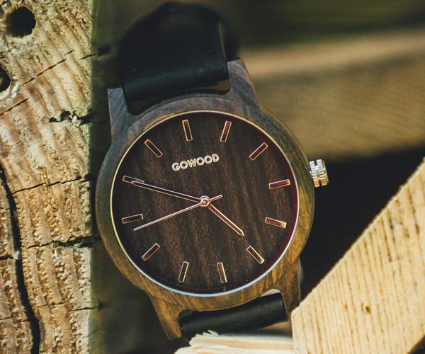 Black Sandal Wood Watch