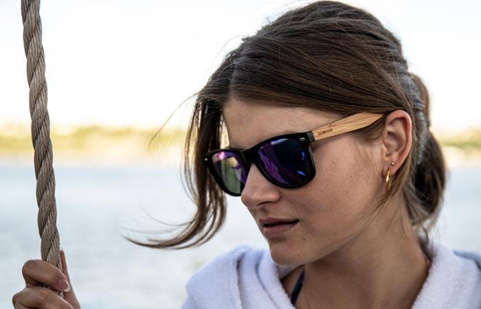 Wayfarer wood sunglasses
